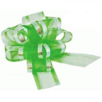 Organza Pull Bow Large 50mm Eleganza Green