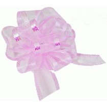 Organza Pull Bow Large 50mm Eleganza Pale Pink