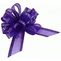 Organza Pull Bow Large 50mm Eleganza Purple