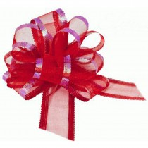 Organza Pull Bow Large 50mm Eleganza Red