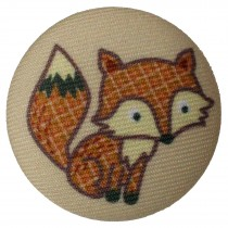 Fabric Covered Woodland Animal Buttons 33mm Fox Pack of 1