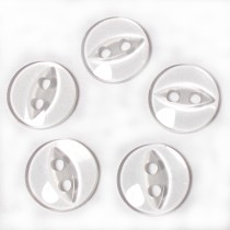 Fisheye Basic Buttons 19mm Clear Pack of 5