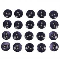 Fisheye Basic Buttons 19mm Dark Blue Pack of 20