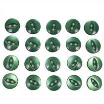 Fisheye Basic Buttons 11mm Green Pack of 20