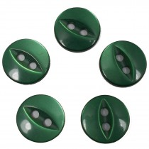 Fisheye Basic Buttons 11mm Green Pack of 5