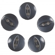 Fisheye Basic Buttons 14mm Grey Pack of 5