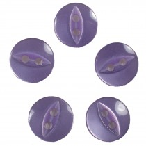 Fisheye Basic Buttons 19mm Lilac Pack of 5