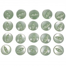 Fisheye Basic Buttons 11mm Mint Green Pack of 20