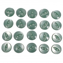 Fisheye Basic Buttons 11mm Pale Green Pack of 20