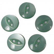 Fisheye Basic Buttons 14mm Pale Green Pack of 5