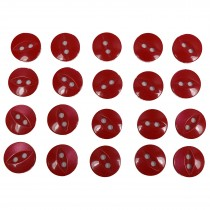 Fisheye Basic Buttons 14mm Red Pack of 20