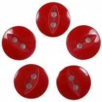 Fisheye Basic Buttons 11mm Red Pack of 5