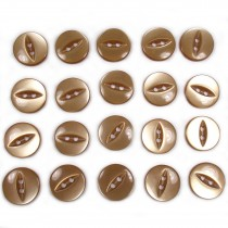 Fisheye Basic Buttons 14mm Toffee Brown Pack of 20