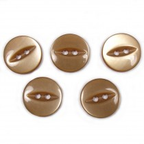 Fisheye Basic Buttons 14mm Toffee Brown Pack of 5
