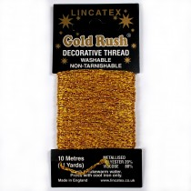 Gold Rush Metallic Decorative Glitter Embroidery Thread - 10 Metre Card Gold