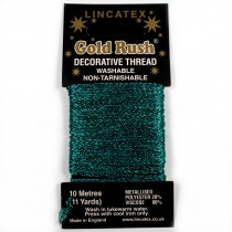 Gold Rush Metallic Decorative Glitter Embroidery Thread - 10 Metre Card Jade
