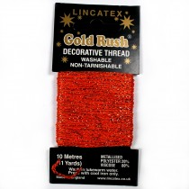 Gold Rush Metallic Decorative Glitter Embroidery Thread - 10 Metre Card Orange
