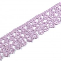 Guipure Butterfly Lace 18mm Wide Lilac 2 metre length