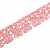 Guipure Butterfly Lace 18mm Wide Pink 2 metre length