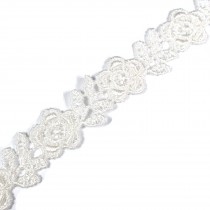 Rose Flower Guipure Lace 15mm wide Natural Cream 3 metre length