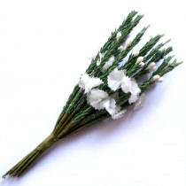 Artificial Heather 12cm Tall Ivory