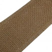 Rustic Hessian Wired Edge Ribbon 50mm wide Dark Beige 3 metre length