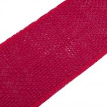 Rustic Hessian Wired Edge Ribbon 70mm wide Dark Pink 3 metre length