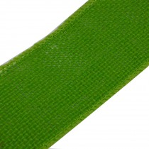 Rustic Hessian Wired Edge Ribbon 70mm wide Green 3 metre length