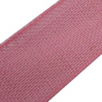 Rustic Hessian Wired Edge Ribbon 70mm wide Pale Pink 3 metre length