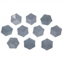 Hexagon Shape Cube Effect Buttons 18mm Blue Pack of 10