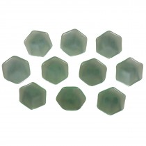 Hexagon Shape Cube Effect Buttons 18mm Green Pack of 10
