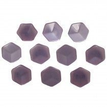 Hexagon Shape Cube Effect Buttons 18mm Lilac Pack of 10