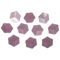 Hexagon Shape Cube Effect Buttons 15mm Pink Pack of 10