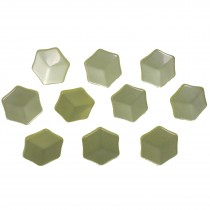 Hexagon Shape Cube Effect Buttons 18mm Yellow Pack of 10