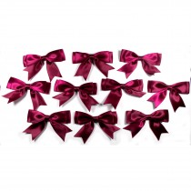 Large Satin Ribbon Double Bows 8cm wide Burgundy Pack of 10