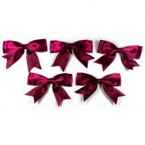 Large Satin Ribbon Double Bows 8cm wide Burgundy Pack of 5
