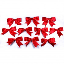 Large Satin Ribbon Double Bows 8cm wide Red Pack of 10