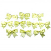 Large Satin Ribbon Double Bows 8cm wide Yellow Pack of 10