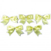 Large Satin Ribbon Double Bows 8cm wide Yellow Pack of 5