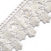 Large Flower Daisy Guipure Lace 9cm wide Off White 2 metre length
