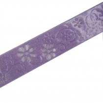 Laser Cut Out Daisy Flower Ribbon 25mm wide Lilac 9 metres length