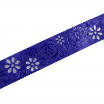 Laser Cut Out Daisy Flower Ribbon 12mm wide Purple 14 metres length