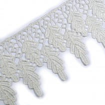 Leaf Guipure Lace Trim 6cm wide Cream 2 metre length
