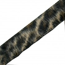 Leopard Animal Print Fur Ribbon 15mm wide Pale Natural 2 metre length