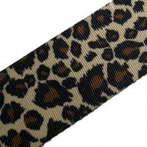 Leopard Animal Print Grosgrain Ribbon 38mm wide 2 metre length