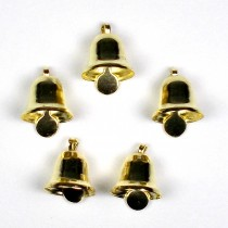 Mini Liberty Bells Gold 8mm Pack of 5