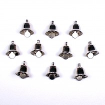 Mini Liberty Bells Silver 14mm Pack of 10
