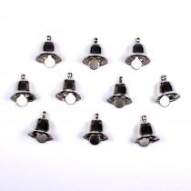 Mini Liberty Bells Silver 14mm Pack of 10