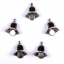 Mini Liberty Bells Silver 14mm Pack of 5