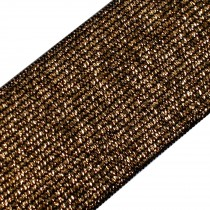 Lurex Elastic Stretch Trim 40mm wide Gold on Black 1 metre length